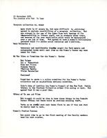 Notes on discussion with Robert Palmer, regarding the Women's Center library, September 28, 1971, page 1