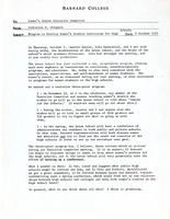 Memo from Catharine Stimpson to the Women's Center Executive Committee, regarding a program to develop women's studies curriculums for high schools, October 8, 1971, page 1