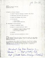 Agenda for Executive Committee meeting, November 18, 1971