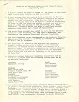 Notes on an Advisory Committee for Women's Center, September 1971