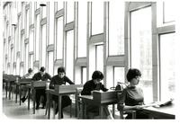 Second floor reading room of Wollman Library, circa 1963
