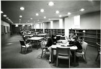 Students in Wollman Library, circa 1970