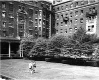 Southwest corner of Barnard Quad, 1944