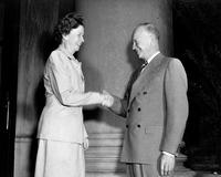 Millicent McIntosh and Dwight D. Eisenhower, 1948