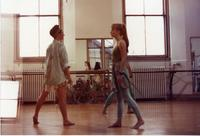 Students rehearse in dance studio, 1991