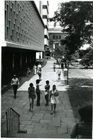 Students passing Lehman Hall, circa 1970s