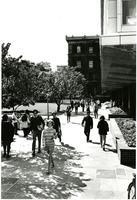 Students Walking By Lehman, circa 1970-1972