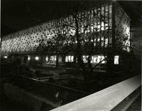 Lehman Hall at night, 1981