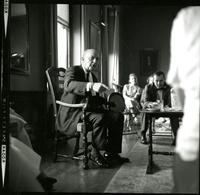 Dr. Niebuhr, in College Parlor Final Danforth Lecture, 1961