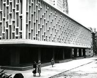 Newly finished Wollman Library, circa early 1960s