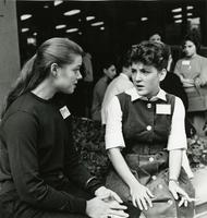 Two students at Freshman Orientation, circa 1960s