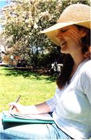 Student Reading on Lehman Lawn, spring 2003