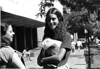 Two Students on Lehman Walk, circa 1980s