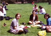 Students Studying on Lehman Lawn, circa 1990s