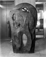 """The Bear"" Sculpture-Wollman Library Lobby, circa 1960s"