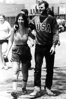 Students walking together, circa 1980s
