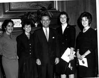 Students with Governor William Wallace Barron, 1962