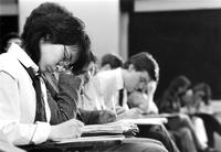 Students in class, circa 1980s