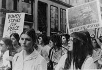 Barnard Bulletin - women's peace march, circa 1960s-1970s