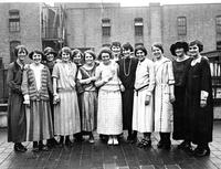 Elizabeth Waterman and Classmates, circa 1920s.