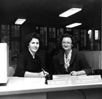 Librarians at Reference and Information Desk, circa 1960s