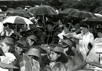 Scene from a rainy graduation, 1993