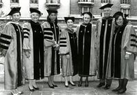 Barnard and Columbia Administration at Commencement, 1993
