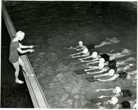 Swimming Lesson with Professor Fern Yates, circa 1960