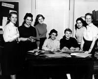 Barnard College Mortarboard Art and Layout Staff, 1955