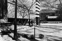 Altschul and Lehman Halls in winter, circa 1970s