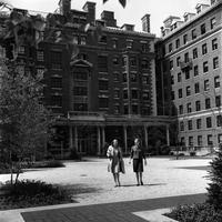 Brooks Hall and Hewitt Hall exteriors, circa 1935-1959