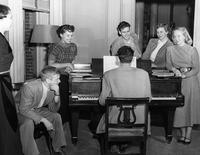Quad music room, circa 1950