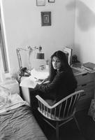 Student at desk in dorm (Brooks Hewitt Reid), circa 1980s