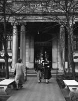 Students leaving Brooks Hall , circa 1952