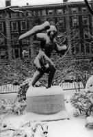 Greek Games Statue in winter, circa 1960-1980