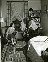 Hewitt Hall dorm room, 1953