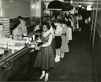 Hewitt Hall cafeteria, circa 1950s