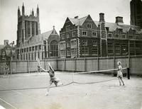 Tennis game, fall 1936