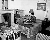 Students in Brooks Hall Dorm Room, 1953