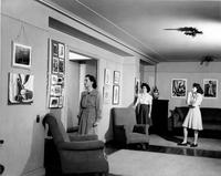 Students in Hewitt Living Room, circa 1940s