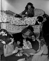 Students in Hewitt Hall dorm room, circa 1940s