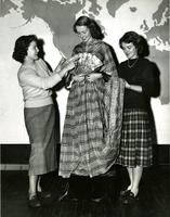 Students dressing in cultural attire, circa 1949