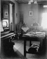 Brooks Hall living room, 1910