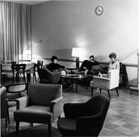 Reid Hall living room, circa 1951-1966