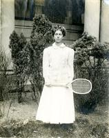 Barnard College tennis player, circa 1908