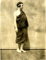 Student in costume for the Greek Games, 1924